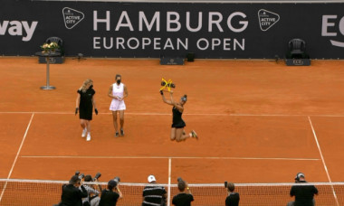 Gabriela Ruse, după victoria cu Andrea Petkovic / Foto: Captură Digi Sport