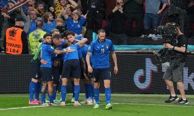 Italy v Spain, UEFA European Championship 2020, Semifinal, International Football, Wembley Stadium, London, UK - 6 July 2021