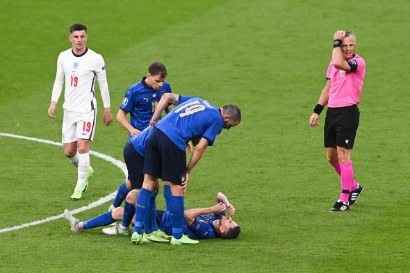 Jorginho s-a accidentat în meciul Italia - Anglia / Foto: Getty Images