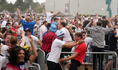 Football Fans Across England Turn Out For The Final Of The 2020 UEFA European Championships