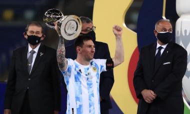 Lionel Messi, după câștigarea Copei America 2021 / Foto: Getty Images