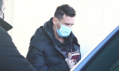 Lionel Messi touches down in Barcelona
