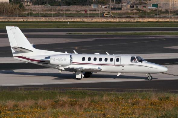 Cessna 560 Citation Encore+ private business jet on arrival in Malta