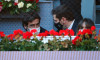 The Mutua Madrid Open brings together many well-known faces in the stands