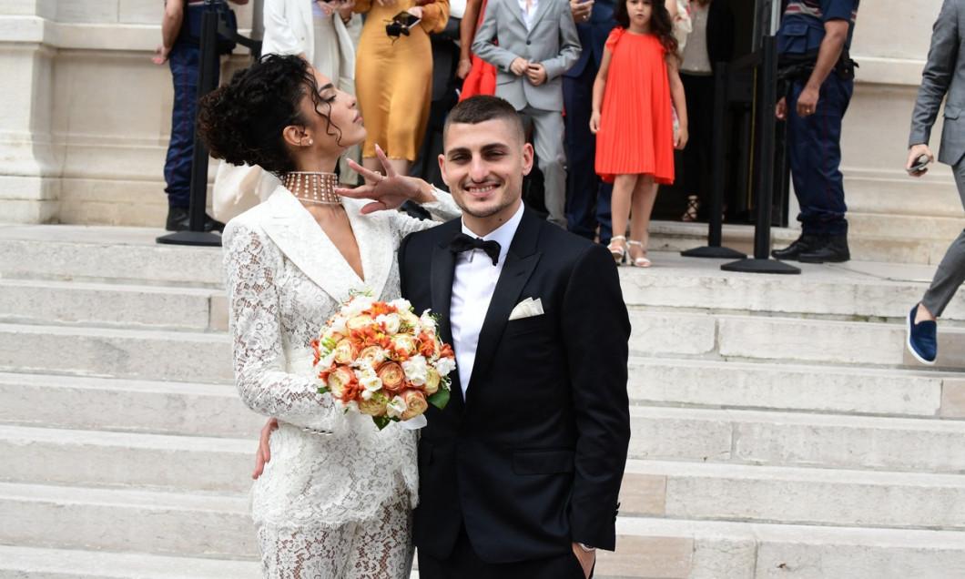 Mariage de Marco Verratti et Jessica Aďdi ŕ mairie de Neuilly-sur-Seine