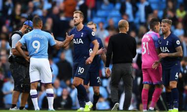Harry Kane, într-un meci Manchester City - Tottenham / Foto: Getty Images