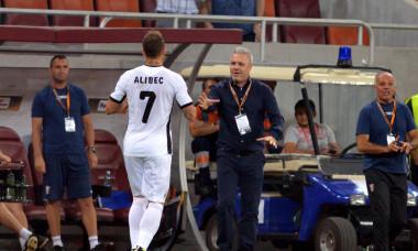 Denis Alibec și Marius Șumudică, în perioada în care colaborau la Astra / Foto: Sport Pictures