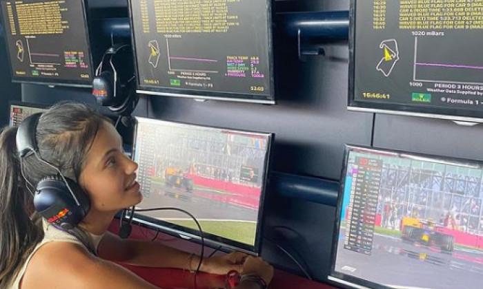 Emma Răducanu, la Silverstone / Foto: Instagram@emmaraducanu