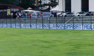 Banner-ul afișat de suporterii lui Lazio / Foto: Captură Instagram@26stefanradu