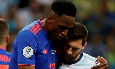 Yerry Mina Lionel Messi