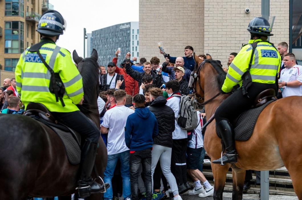 Fans arrive for Euro 2020 England v Scotland match at Wembley Stadium, LONDON, UK - 18 Jun 2021