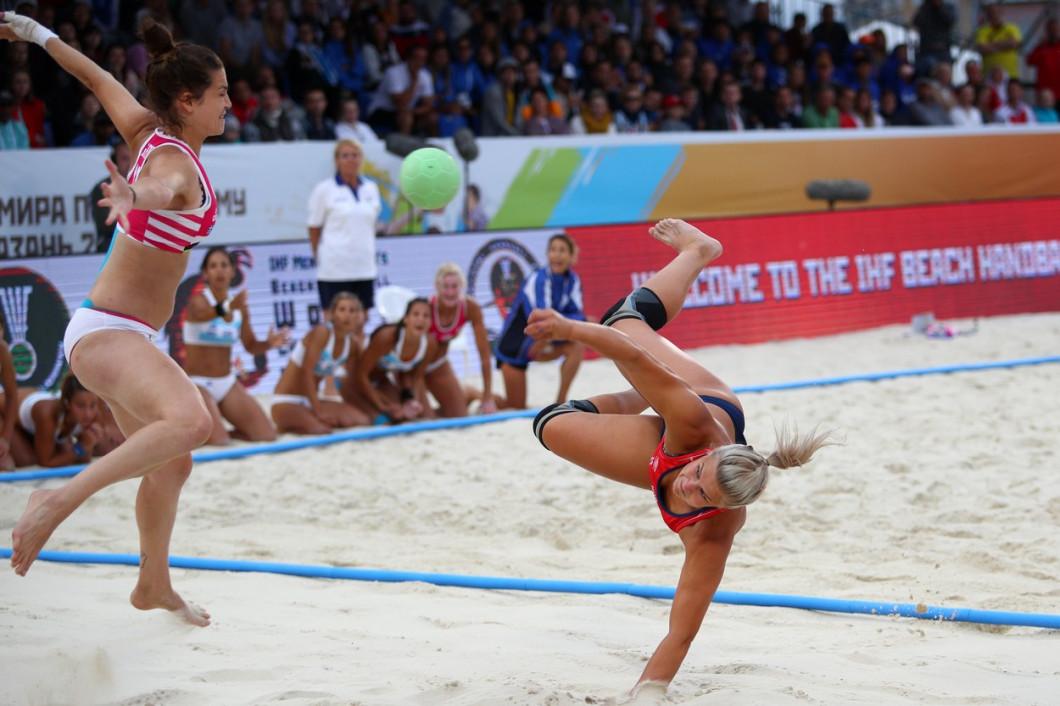 Beach handball. 2018 Beach Handball World Championships. Finals