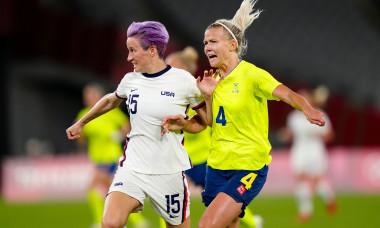 USA v Sweden, international football, Group G, Tokyo Olympic Games 2020, Tokyo Stadium, Japan - 21 Jul 2021