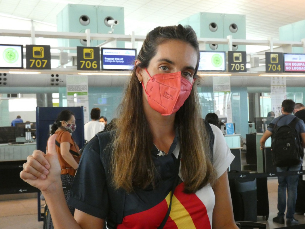 Ona Carbonell heads to Tokyo without her youngest son