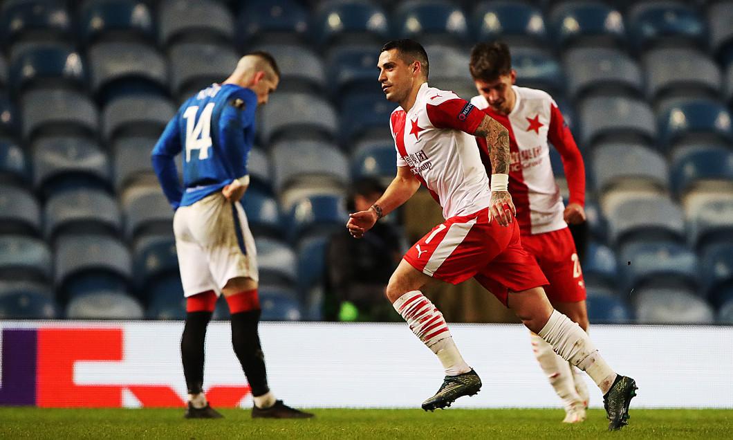 Nicolae Stanciu, în meciul Rangers - Slavia Praga / Foto: Getty Images