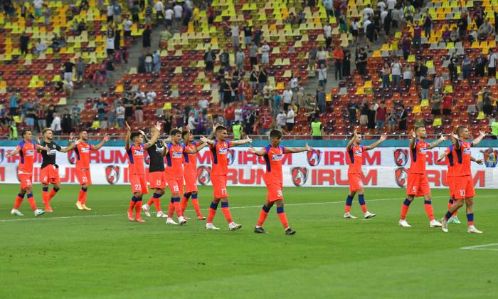 Fotbaliștii de la FCSB, după meciul cu Șahtior Karagandy / Foto: Sport Pictures