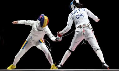 Ana Maria Popescu, în finala probei de spadă de la Jocurile Olimpice / Foto: Getty Images
