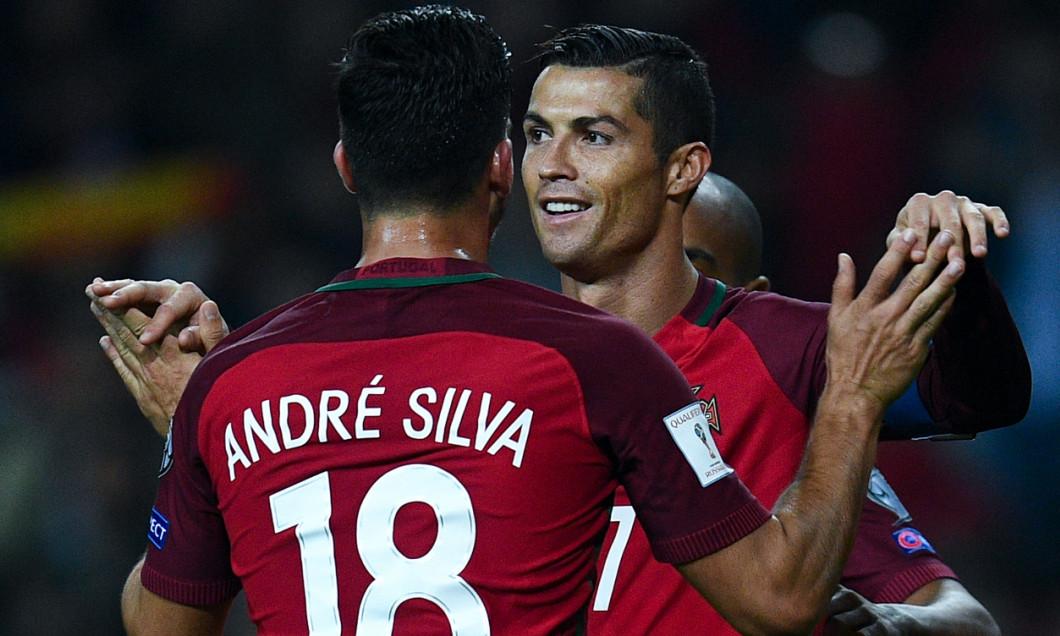 Andre Silva alături de Cristiano Ronaldo / Sursa foto: Getty Images