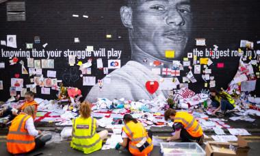 Marcus Rashford memorial salvage, Manchester, Greater Manchester, UK - 23 Jul 2021
