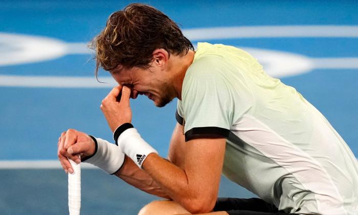 Alexander Zverev, după meciul cu Novak Djokovic / Foto: Profimedia