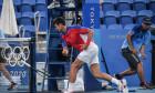 Novak Djokovic, în meciul cu Pablo Carreno Busta / Foto: Profimedia
