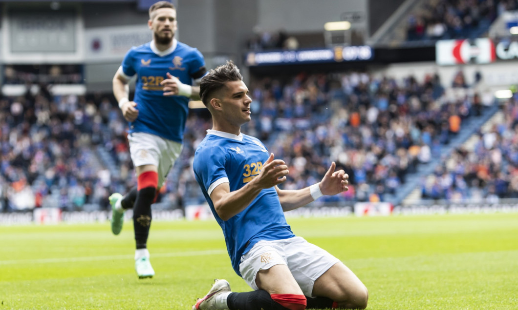 Rangers v Livingston, Scottish Premiership, Football, Ibrox Stadium, Glasgow, UK - 31 July 2021