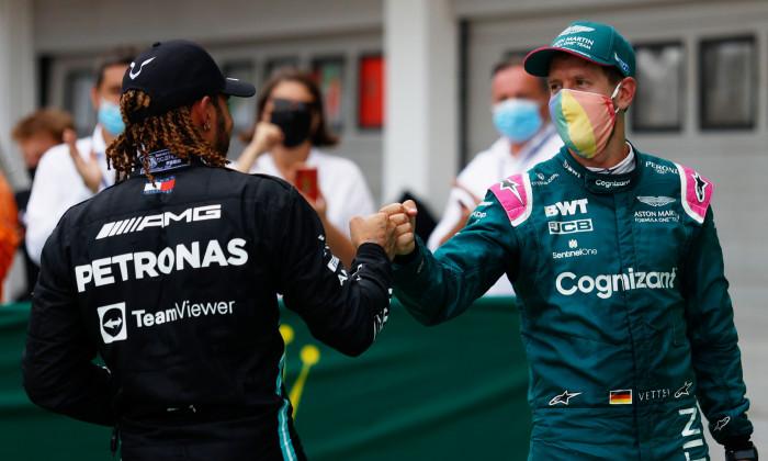 Sebastian Vettel și Lewis Hamilton / Foto: Getty Images