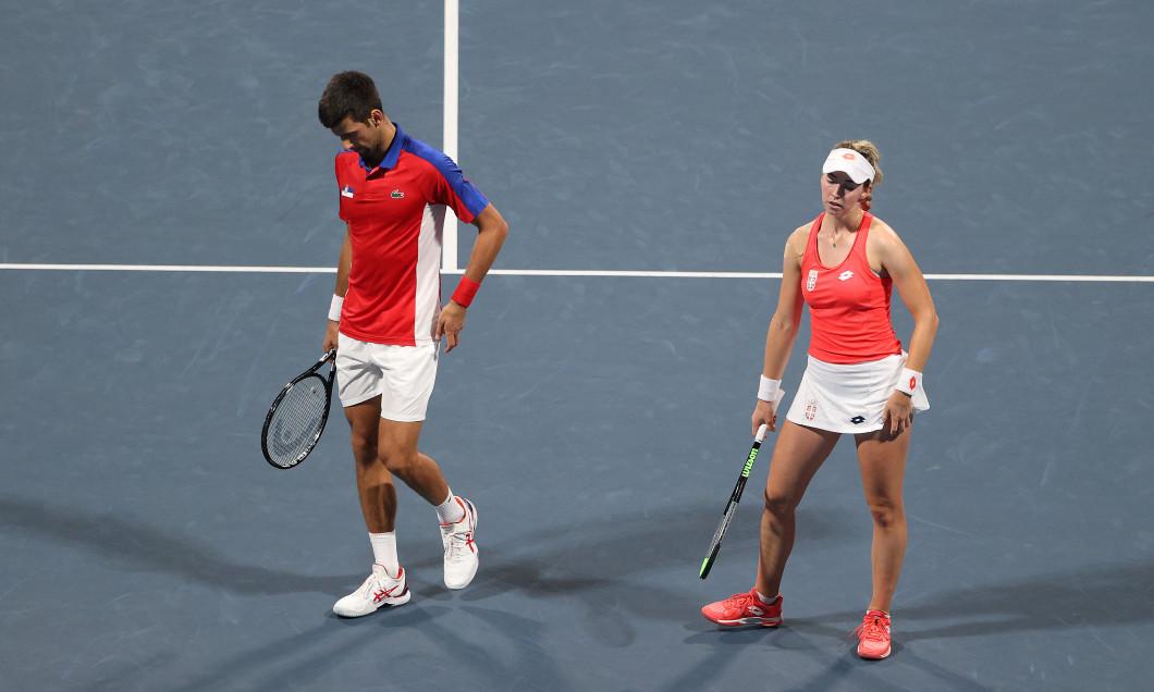 Novak Djokovic și Nina Stojanovic, la Jocurile Olimpice / Foto: Getty Images