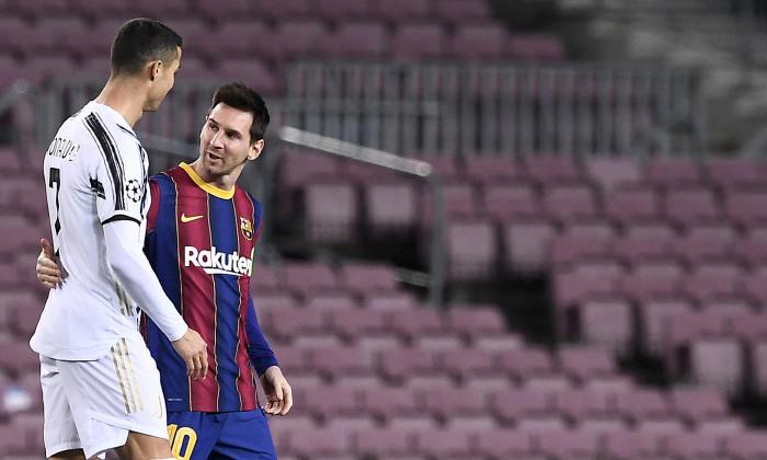Lionel Messi și Cristiano Ronaldo, în timpul unui meci Barcelona - Juventus / Foto: Profimedia
