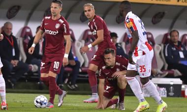FOTBAL:CFR CLUJ-STEAUA ROSIE BELGRAD, PLAY OFF UEFA EUROPA LEAGUE (26.08.2021)