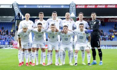 Fotbaliștii naționalei României, înaintea meciului cu Islanda / Foto: FRF.ro