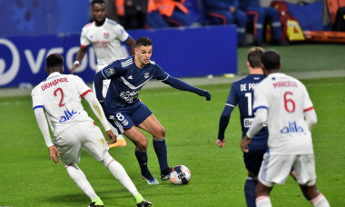 Match de football Ligue 1 Uber Eats Lyon (OL) contre les Girondins de Bordeaux (2-1) ŕ Lyon