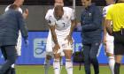 Denis Alibec, accidentat în meciul Islanda - România / Foto: Captură Digi Sport