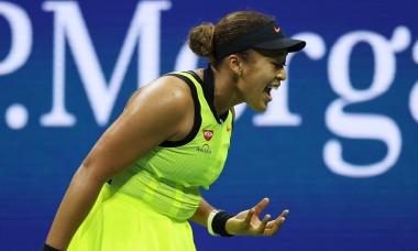 Naomi Osaka, în meciul cu Leylah Fernandez de la US Open / Foto: Profimedia