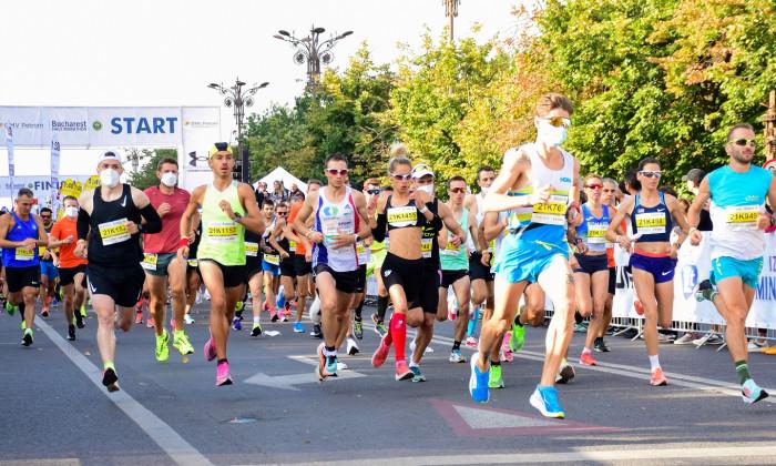 Semimaratonul Bucureştiului 2021 a fost câştigat de Ancuţa Bococel, respectiv Nicolae Soare / Foto: Facebook @bucharest21km