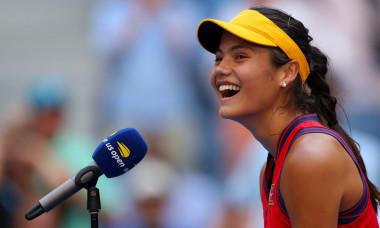 Emma Răducanu, după meciul cu Shelby Rogers de la US Open / Foto: Profimedia