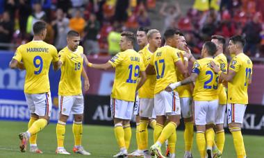 Fotbaliștii naționalei României, în meciul cu Liechtenstein / Foto: Sport Pictures
