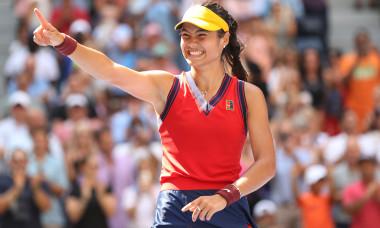 Emma Răducanu, după victoria cu Belinda Bencic de la US Open / Foto: Getty Images