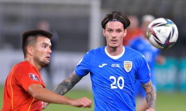 Dennis Man, în meciul Macedonia de Nord - România / Foto: Sport Pictures