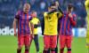 Alexandru Bourceanu, Nicolae Stanciu și Mihai Pintilii, după un meci FCSB - Schalke / Foto: Sport Pictures