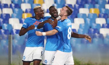 Fotbaliștii lui Napoli, în meciul cu Juventus / Foto: Getty Images