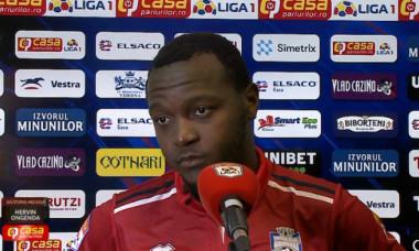 Hervin Ongenda, mijlocașul de la FC Botoșani / Foto: Captură Digi Sport