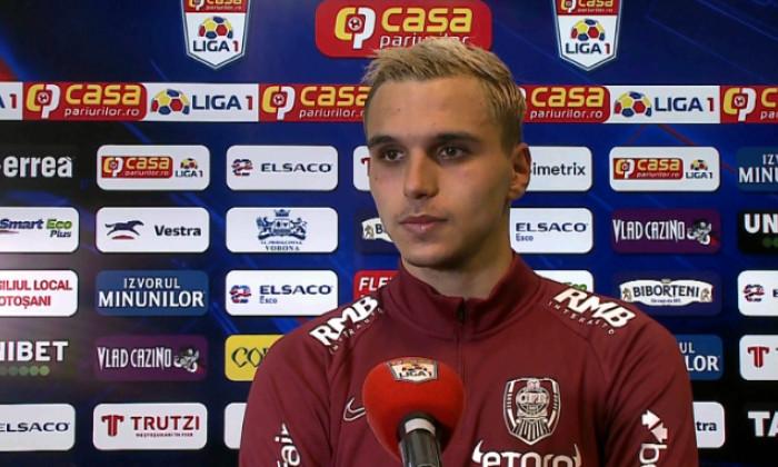 Cristi Manea, fundașul de la CFR Cluj / Foto: Captură Digi Sport