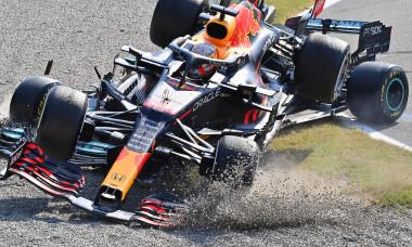Accident la Monza, în care au fost implicați Lewis Hamilton și Max Verstappen / Foto: Getty Images
