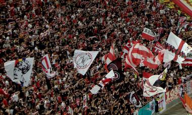 Suporterii lui Dinamo, la derby-ul cu FCSB / Foto: Captură Digi Sport