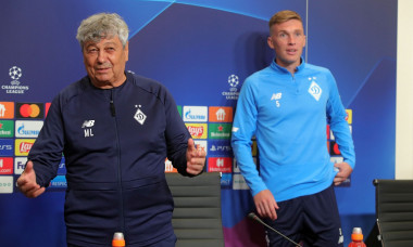 News conference of Mircea Lucescu and Serhiy Sydorchuk in Kyiv, Ukraine - 13 Sep 2021