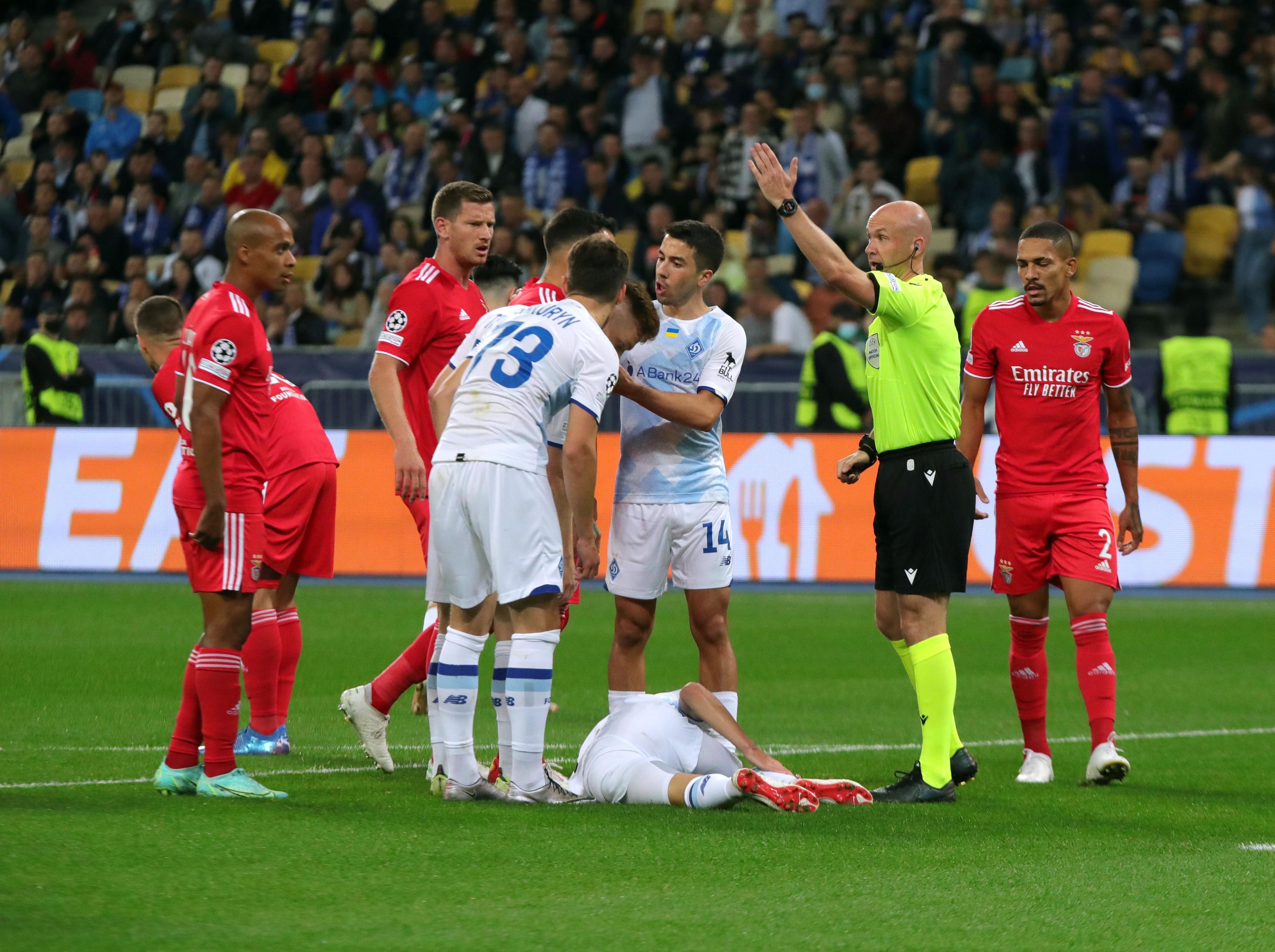 Dinamo Kiev - Benfica 0-0. Două bare în prelungiri și gol anulat la ultima fază pentru echipa lui Mircea Lucescu