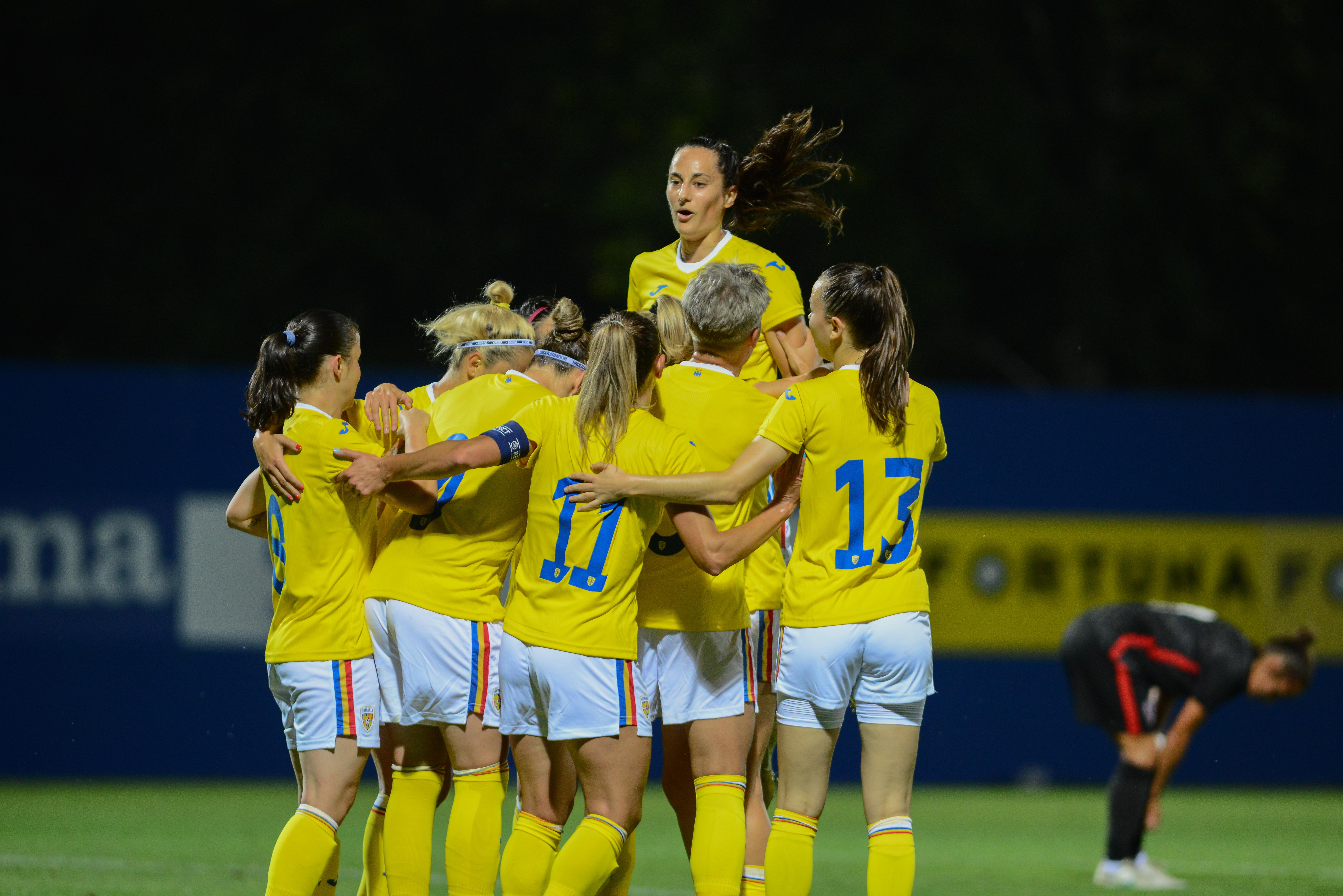 Naționala de fotbal feminin a României, debut cu dreptul la preliminariile CM 2023! Victorie cu Croația, pe teren propriu