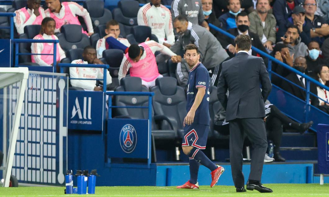 The French L1 football match between Paris-Saint Germain (PSG) and Olympique Lyonnais at The Parc des Princes Stadium in Paris on September 19, 2021.