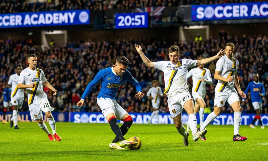 Rangers v Livingston, Premier Sports Cup, Quarter Final, Football, Ibrox Stadium, Glasgow, UK - 22 Sep 2021